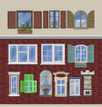 window modern house view glass frame arch vector image