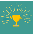 Winner gold cup trophy Award symbol in flat design vector image