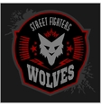 Wolves - military label badges and design vector image vector image