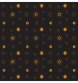golden rich floral seamless pattern on black vector image