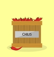 Red Chilis vector image
