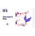 2020 new year holidays website landing page group vector image vector image