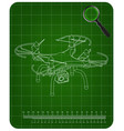 3d quadcopter model on a green vector image vector image