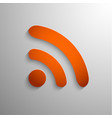 3d rss icon vector image vector image