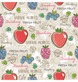 Background with strawberry blackberry vector image vector image