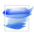 beautiful blue watercolor wet paper texture vector image vector image