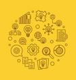 business idea circular vector image