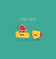 cheese and figs friends vector image