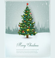 christmas tree with decorations and gift boxes vector image vector image