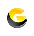 Creative yellow and black symbol letter G for your vector image vector image