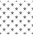 cricket bats pattern seamless vector image vector image