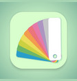 Design Color Guide Fan Flat Mobile OS vector image