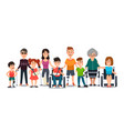 disabled characters people with special needs vector image vector image