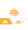 dish logo combination plate symbol or icon vector image