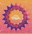 diwali festival with flower mandala petals vector image vector image