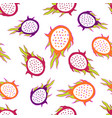 dragon fruit pattern vector image
