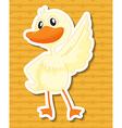Duck vector image vector image