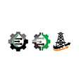 electricity and gear engineering set vector image