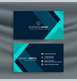 elegant dark blue business card template vector image vector image