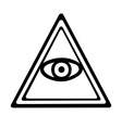 Eye of providence vector image vector image
