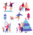 family holidays set vector image vector image