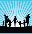 family with children enjou togetherness in nature vector image vector image