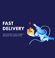 fast delivery service promotion banner template vector image vector image
