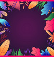 flat abstract colorful leaves pattern background vector image vector image