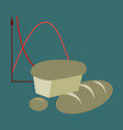 flat icon on stylish background bread chart vector image vector image