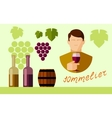 flat icons set of winery vector image
