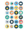 Flat SEO and Marketing Icons 3 vector image vector image