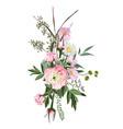 floral bouquet design element pink flower vector image vector image