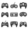 gamepads icon set on white background vector image vector image