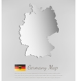 Germany map with shadow effect vector image vector image