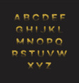 golden glitter alphabet font set vector image