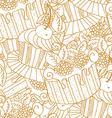 Hand drawn seamless pattern cupcakes vector image vector image
