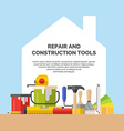 Hand tools for home renovation vector image vector image