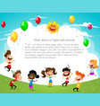 happy birthday party concept vector image vector image