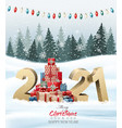 holiday background with christmas tree made out vector image vector image