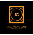 ic letter initial with royal luxury logo template vector image vector image