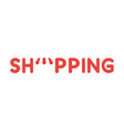 icon concept of shopping word with shop store vector image