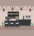 interiores workspace coffee shop restaurant vector image vector image