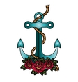 Isolated anchor with rope design vector image