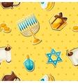 jewish hanukkah celebration seamless pattern vector image
