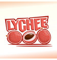 logo for lychee vector image vector image