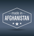 made in Afghanistan hexagonal white vintage label vector image vector image