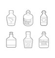 medical bottle icon set outline style vector image vector image