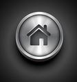 metallic home icon vector image vector image