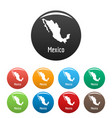 mexico map in black set simple vector image vector image