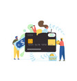 money transfer flat style design vector image